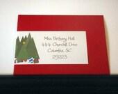 Christmas Trees wrap labels - printable