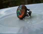 Opal bead ring