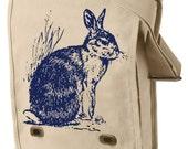 Easter Bunny Cottontail rabbit shoulder / Messenger / Field Bag z1