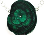 15% OFF: Dancing Malachite Stalactite Slice Necklace