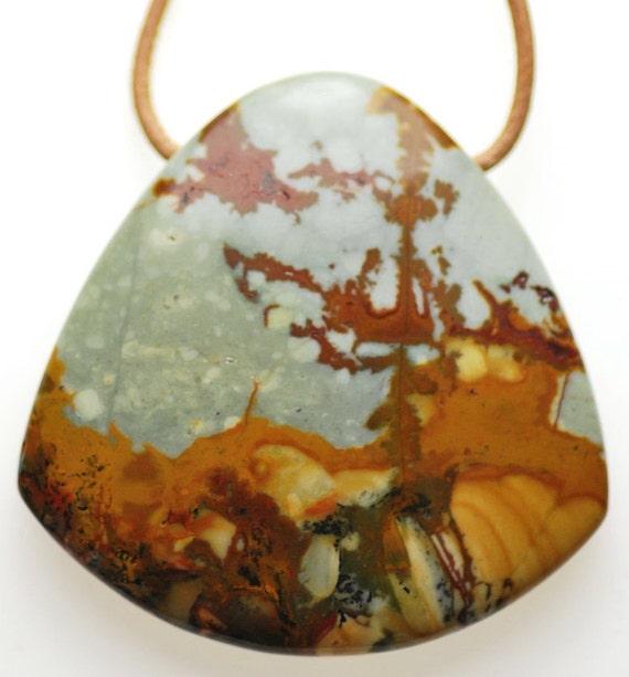 25%OFF: Owyhee Picture Jasper Pendant Necklace