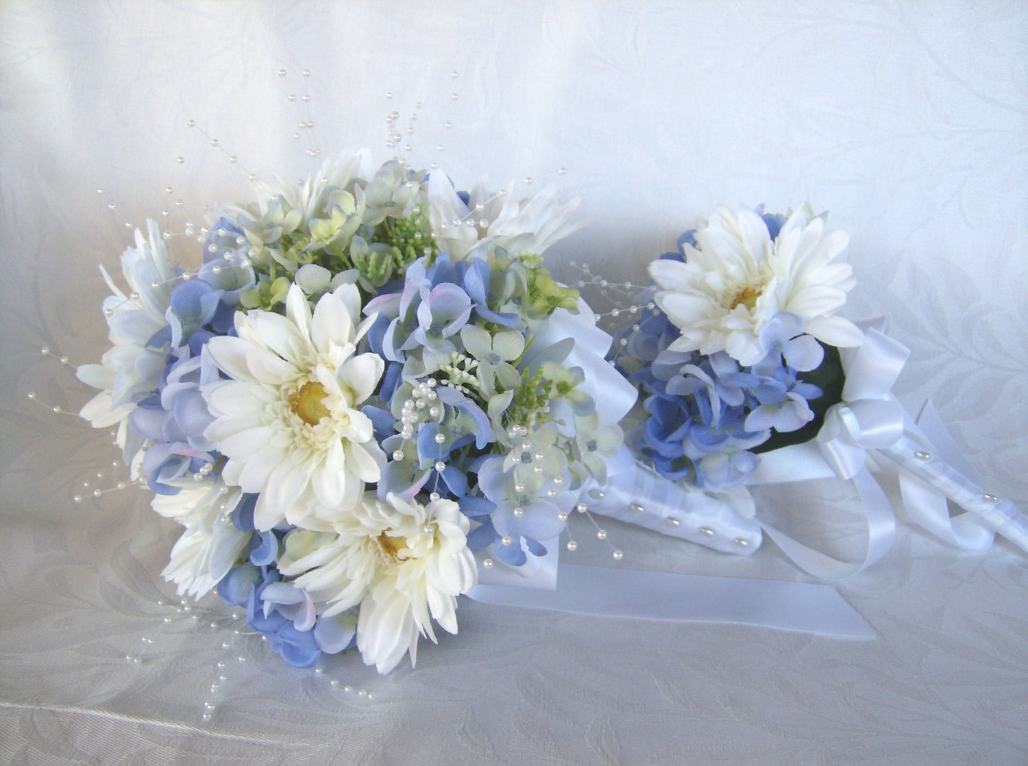 Blue Gerbera Bridal Bouquet Reserved For By
