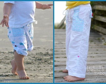 Pier 49 Convertible Pants: Girls Pants Pattern, Boys Pants Pattern, Baby and Toddler Pants Pattern, Shorts Pattern