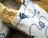 Sailor's Salute - Baby Crib Booties