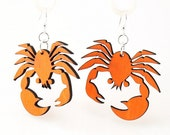 Crab, crustacean Earrings from Sustainable Resources