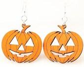 Jack O'Lantern Pumpkins - Laser Cut Wood Earrings
