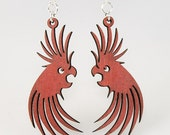 Bird lover Earrings - Laser Cut Eco Friendly Wood Earrings