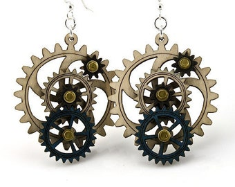 Kinetic Gear Earrings #5003A