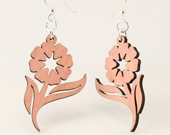 Daisy Flower Earrings - Laser Cut from Sustainable Materials