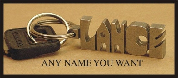 Personalized Brass Keychains - Family made for 30 Years