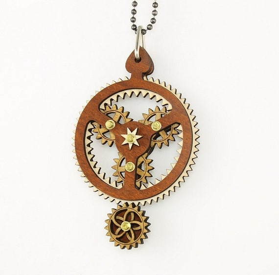 Kinetic Plantarey Gear Pendant - Hugo