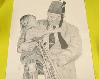 Ltd edtn signed Art Print Masonic Shriner hospital
