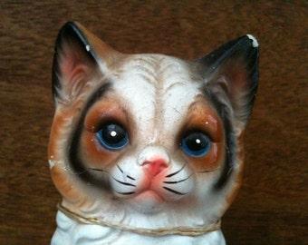 Vintage English Cat Kitten Figurine Statue Ornament Decorative circa 1950's / English Shop