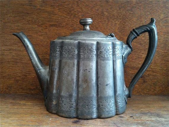 Antique English Tea Pot, very Decorative / English Shop