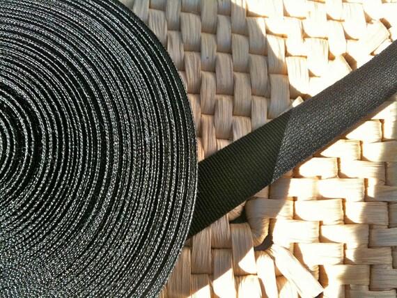 Vintage English Black Crosgrain Ribbon Roll 110 Feet 40 Yard circa 1970-80's / English Shop