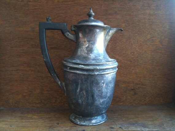 Antique English Tea or Coffee Pot with wonderful Markings circa 1900's / English Shop