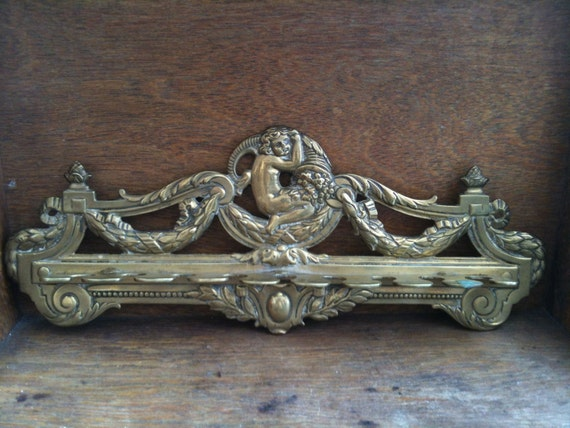Antique Fancy Brass Hanging Rack / English Shop