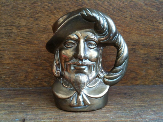 Vintage English Captain Figurine with Feather Hat Mug Jug Vase Pot Tankard circa 1950's / English Shop