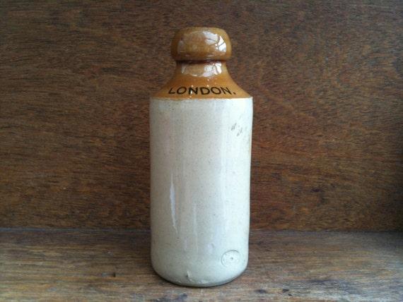 Vintage English London Stoneware Bottle