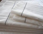 Queen White bed sheet sets 1 deep pocket fitted sheet 1 flat loose sheet 2 pillow cases-comforter cover-cotton jacquard stripe