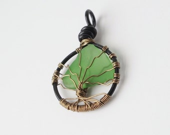 Tree of Life pendant necklace, Finger Lakes gifts, beach glass jewelry, unique gift idea, gifts for women, gifts under 50, mothers day gifts