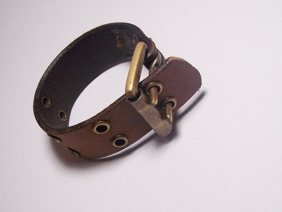 SALE Sons of Anarchy Tara Collection Up Cycled Belt Brown Leather Bracelet