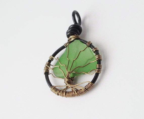 Tree of Life pendant necklace, Finger Lakes gifts, beach glass jewelry, unique gift idea, gifts for women, gifts under 50, christian jewelry
