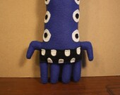 MINI PLUSH MONSTER Milton in Royal Blue with Eight Eyes and Crazy Legs