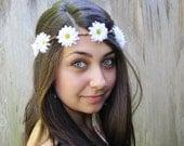 Daisy Headband - Hippie Headband, Hippie Costume, Daisy Crown, Daisy Flower Crown, Flower Crown, Hippie, Boho, Daisy Chain, Circlet, Costume