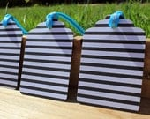 Black and White Striped Gift Tag Set