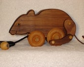 Animated Wooden Mouse Pull Toy-Walnut