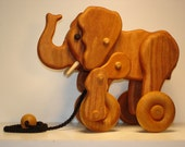 Animated Wooden Elephant Pull Toy
