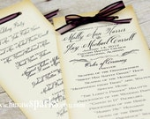 Vintage Ceremony Program - Printable - DIY
