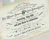Vintage Wedding Invitation - Printable - DIY - The Timeless Suite
