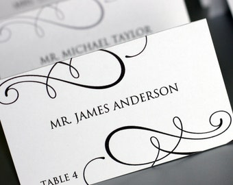 Editable Place-card Template - Printable DIY
