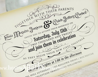 Vintage Wedding Invitation - Printable - DIY - The Timeless Suite