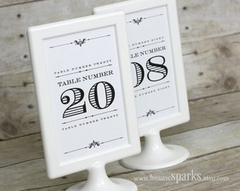 4x6 Table Numbers - DIY - Printable - Devotion