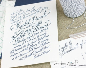 Printable Wedding Invitation - The Rachel Collection