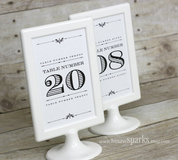 Items similar to 4x6 table numbers diy printable for 4x6 table tent template