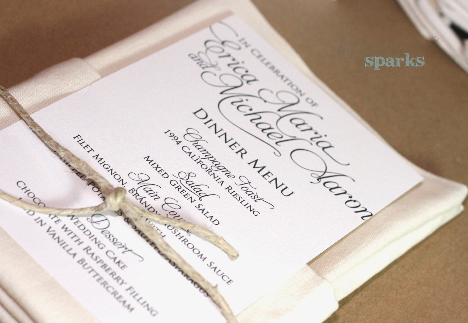 Invaluable image with printable menu cards