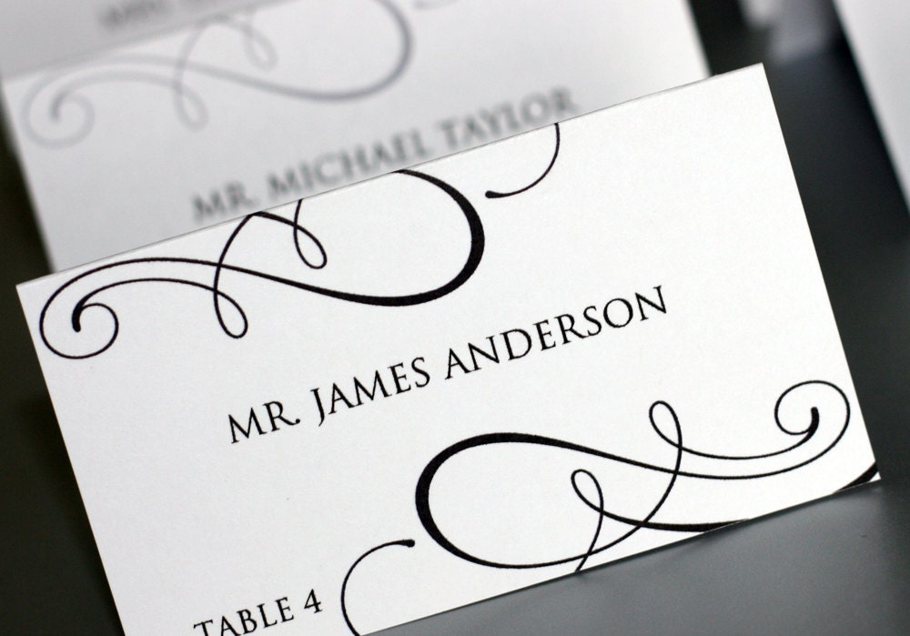 Editable Place-card Template Printable DIY