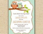 Owl Baby Shower Invitations - DIY Printable Invitations