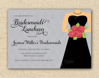 Bridesmaids Luncheon Invitation - Bridal Brunch - DIY Printable Invitations
