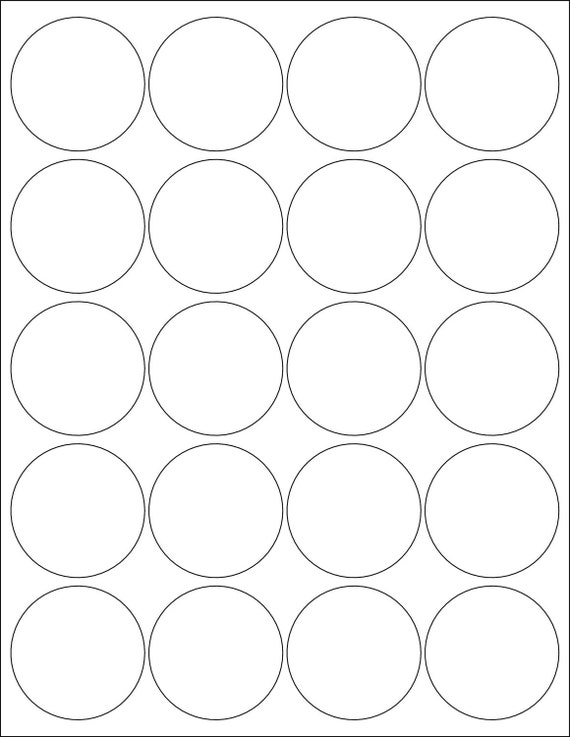 2 Inch Round Labels Stickers 5 Sheets