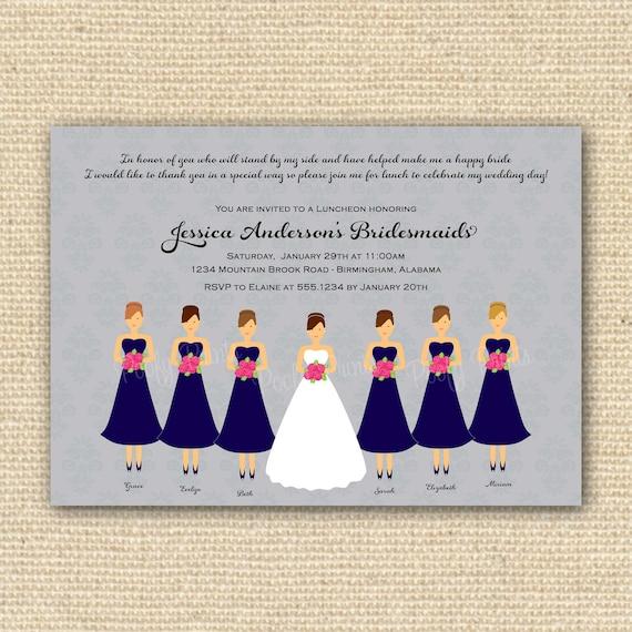 luncheon invitation bridal brunch diy printable invitations