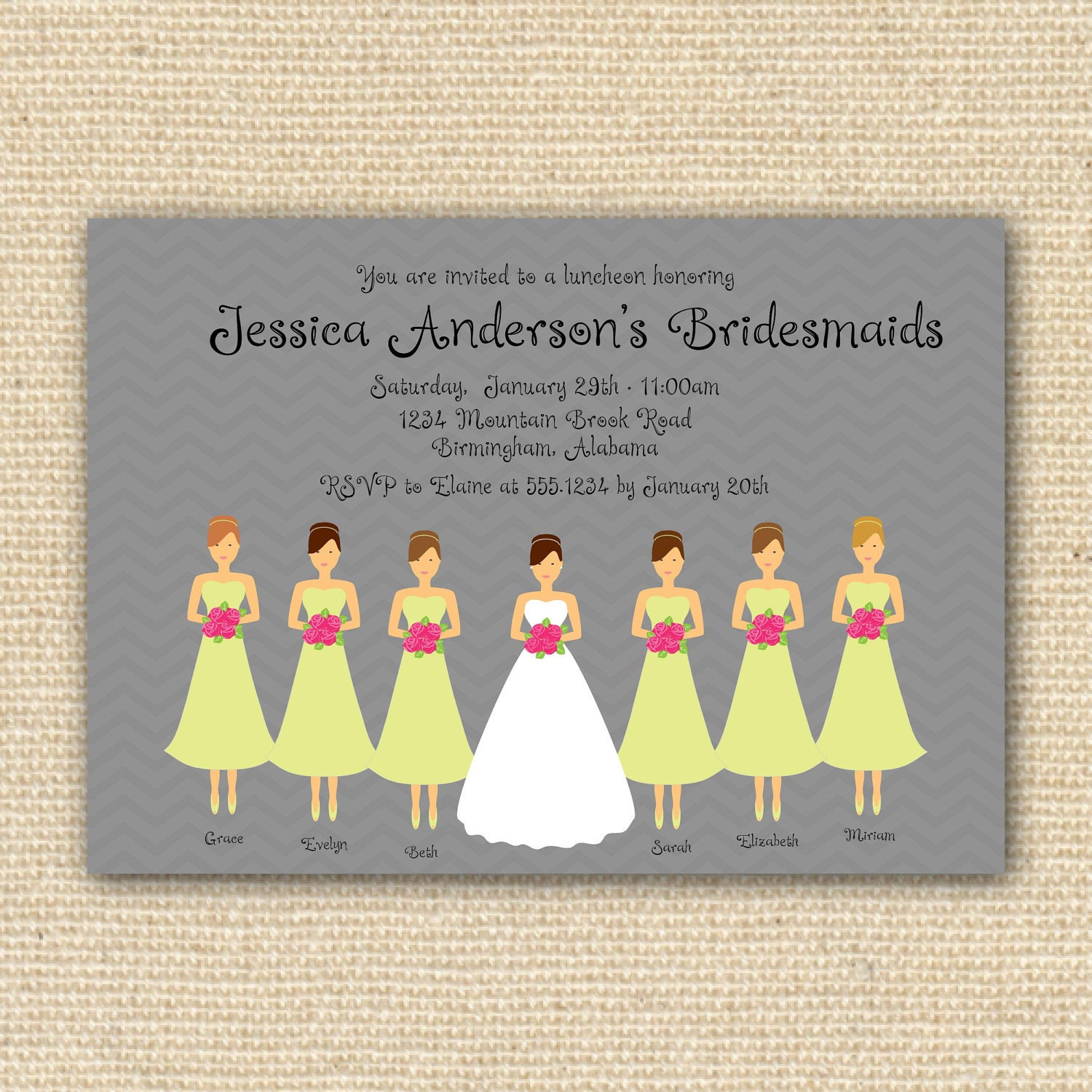 Bridesmaid Luncheon Invitations with beautiful invitations template