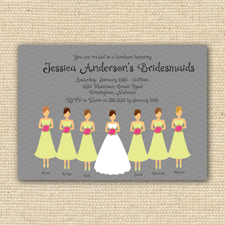 Bridesmaid Luncheon Invitations futurecliminfo