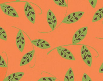 SALE  Whimsy Soft Orange Floral Vines by Heather Mulder Peterson for Henry Glass