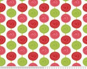SALE 1 Yard Alphabet Soup by Zoe Pearn for My Minds Eye for Riley Blake, Red Beads