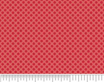 1 Yard Red Mini Dots from Hoo's In The Forest by Doohikey Designs for Riley Blake